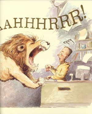 Library Lion illustration
