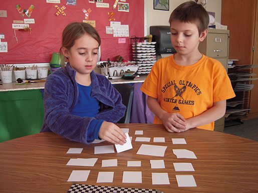 Students play the seed-plant Concentration game, pg. 225