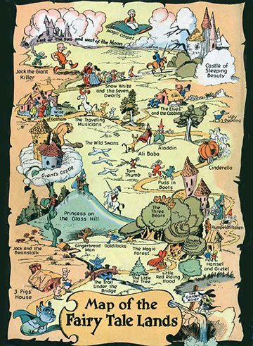 Map of the Fairy Tale Lands