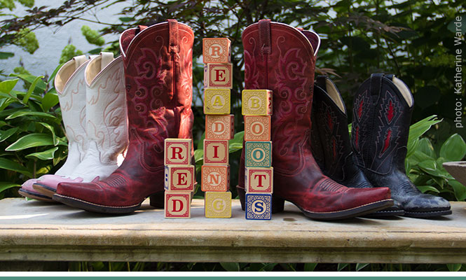 Red Reading Boots