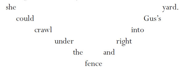 Little Cat's Luck concrete poetry