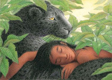 Bagheera and Mowgli by Nicola Bayley