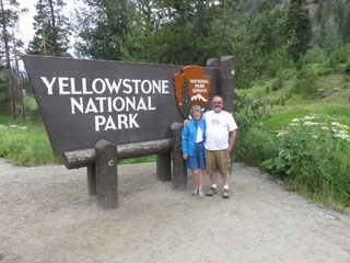 Ann and Ed at Yellowstone National Park