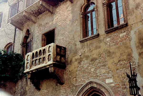 Juliet's balcony in Verona