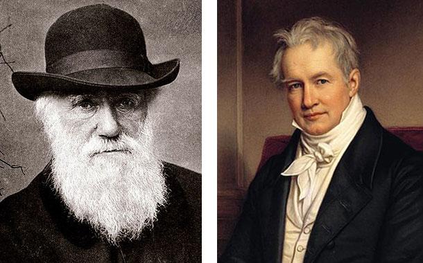 Charles Darwin and Alexander von Humboldt