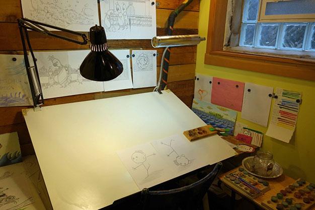 Kenneth Kraegel's studio