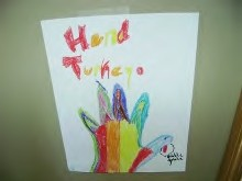 hand turkey art