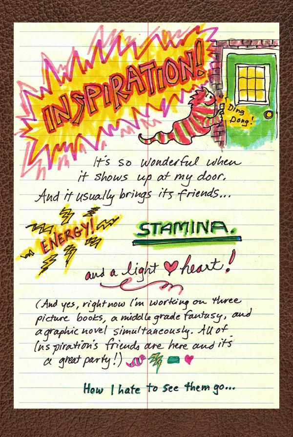 Inspiration, Page Break, Lynne Jonell