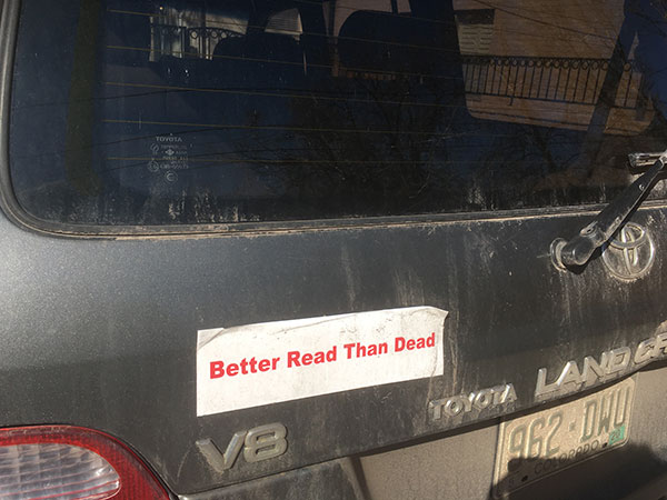 Avi's bumper sticker