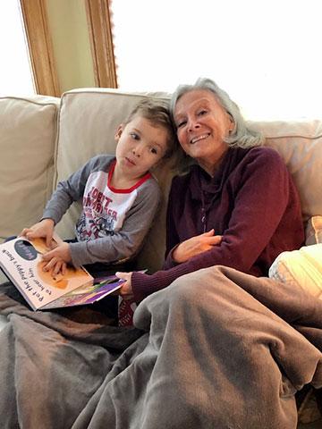 Ann Angel and her grandson Teddy