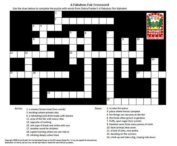 State Fair Alphabet Crossword Puzzle