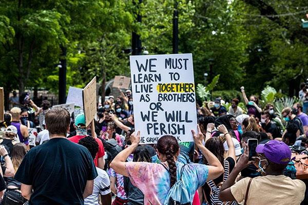 Protest after George Floyd murder