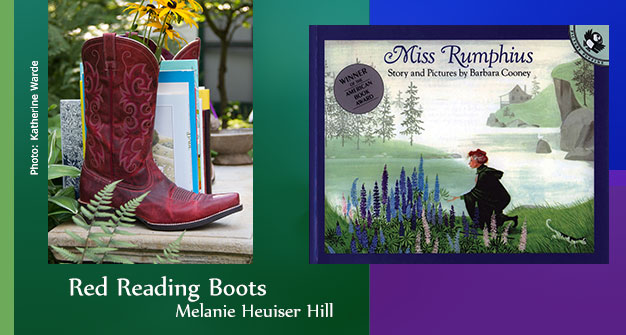 Red Reading Boots Miss Rumphius