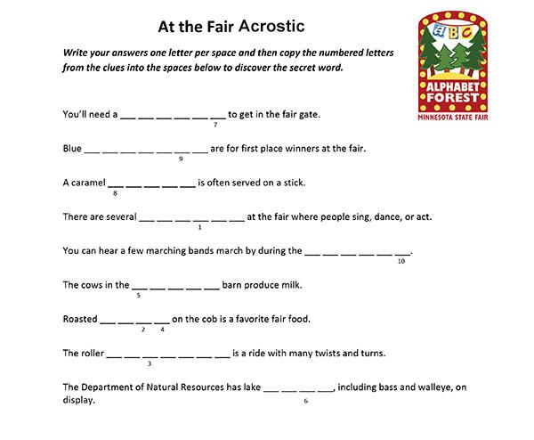 At the Fair Acrostic