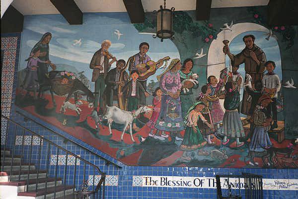 Leo Politi Blessing of the Animals mural