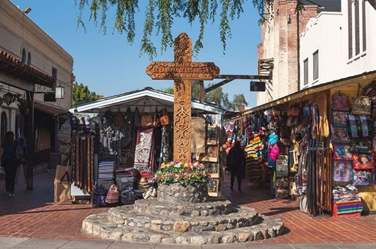 Olvera Street cross