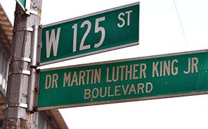 street signs in Harlem