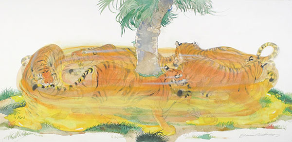 Illustration from Sam and the Tigers